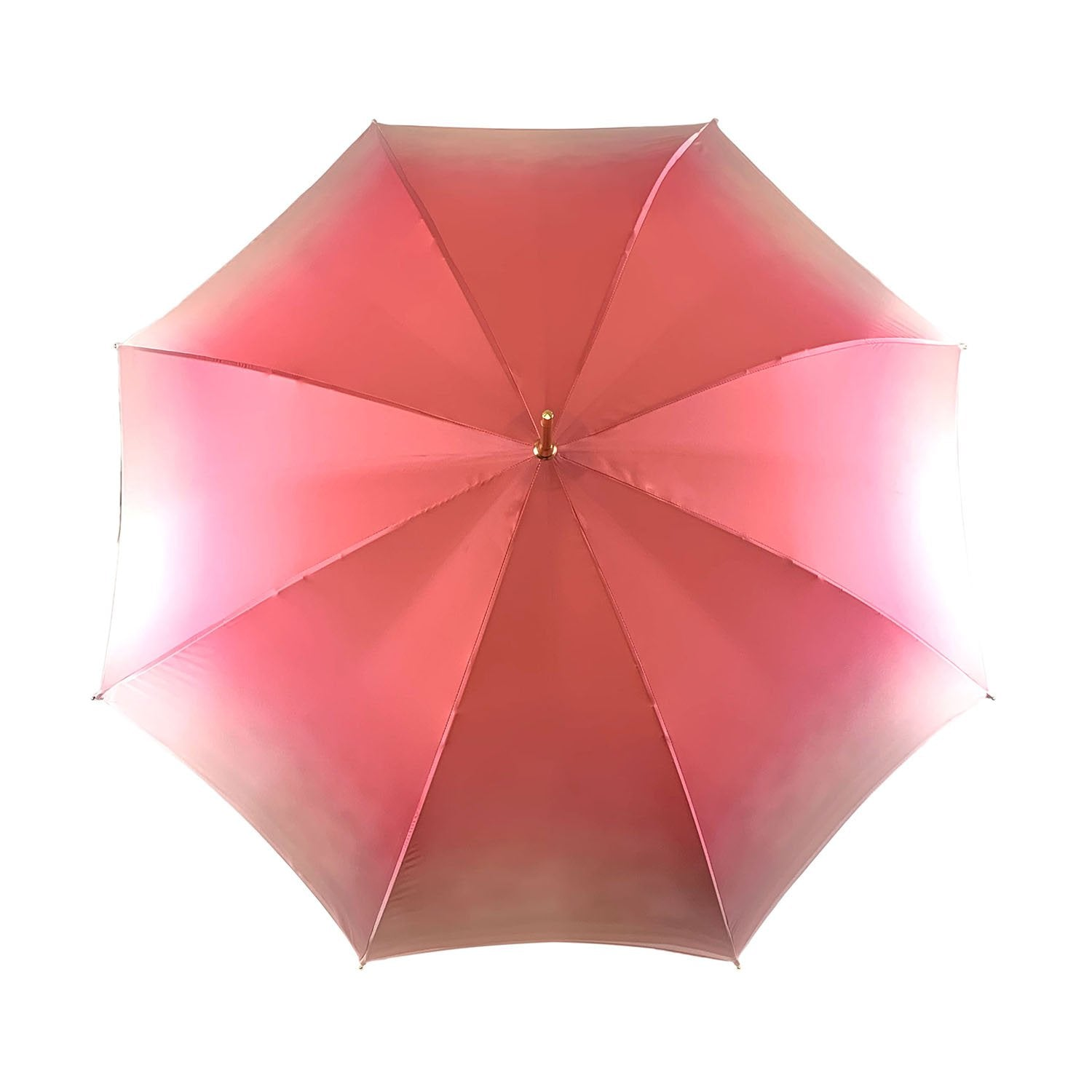 Fantastic light pink umbrella with Special flowered handle - IL MARCHESATO LUXURY UMBRELLAS, CANES AND SHOEHORNS