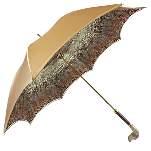 Elegant umbrella in animalier style and hand-enamelled Dog