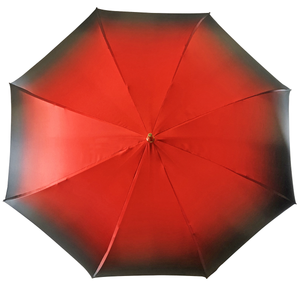 Marvelous Green and Red Umbrella with Goldplated flower