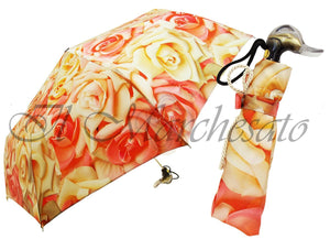 Mini Women's Umbrella - Wonderful Rose Flower Design - il-marchesato