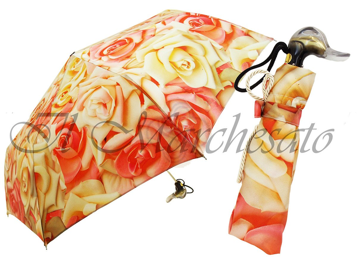 flowered compact umbrella