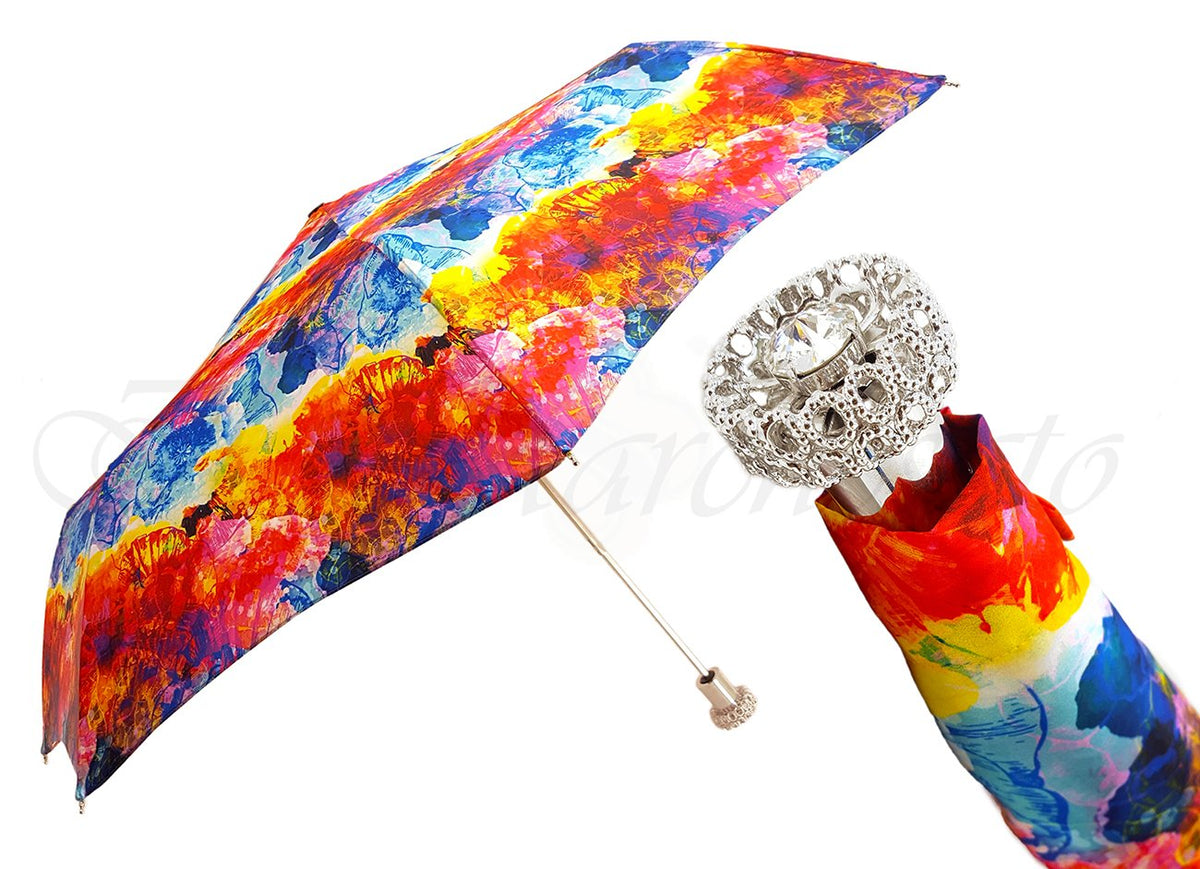 Beautiful Italian Umbrella Jeweled Handle - il-marchesato