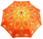 Load image into Gallery viewer, il Marchesato Exclusive Orange Abstract Design, Women's Folding Umbrella - il-marchesato