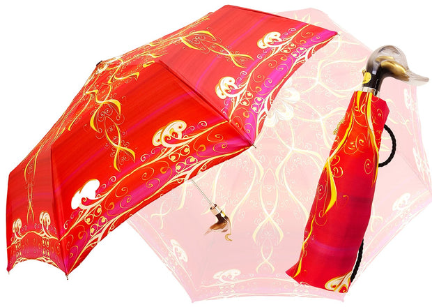 FOLDABLE RED DUCK UMBRELLA