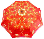 Load image into Gallery viewer, il Marchesato Exclusive Red Abstract Design, Women's Folding Umbrella - il-marchesato