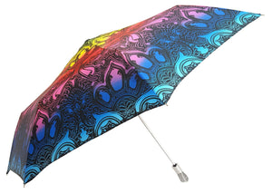Beautiful Women's Compact Umbrella Embedded With Swarovski Crystals - il-marchesato