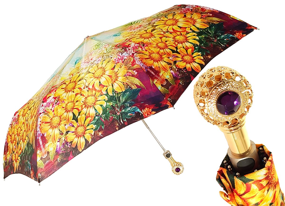 COMPACT FLOWERED UMBRELLA