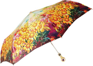 Folding Umbrella For Women With Bright Flowers - il-marchesato