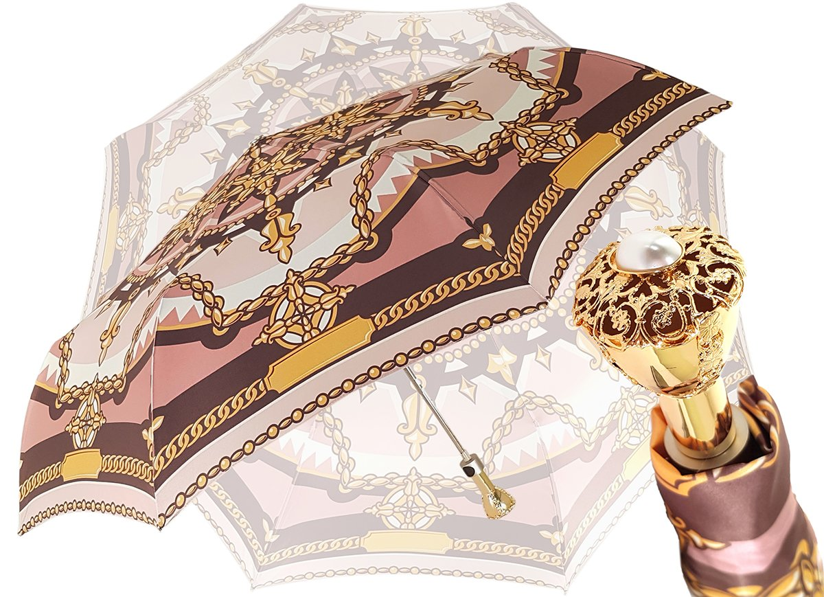 Folding Chain Print Umbrella By il Marchesato - il-marchesato