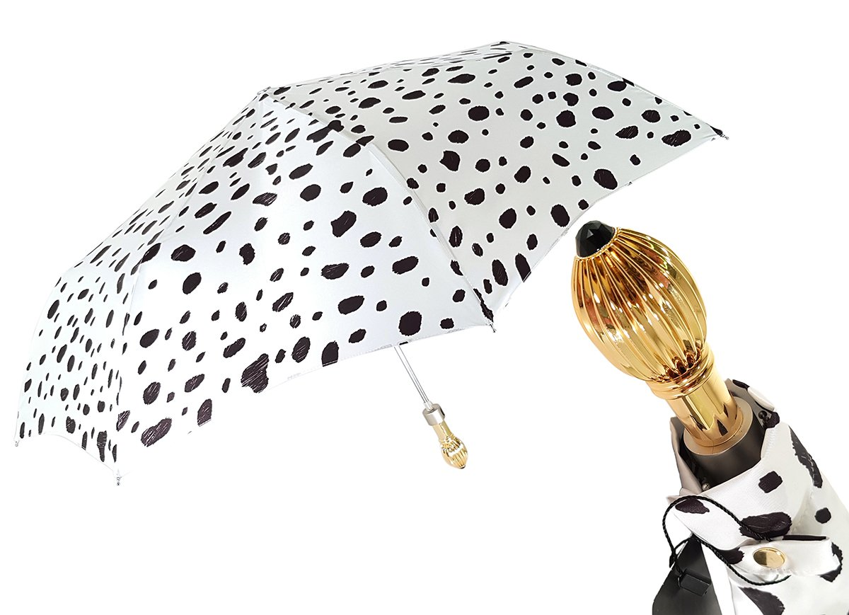 Elegant Spotted Woman's Folding Umbrella - il-marchesato
