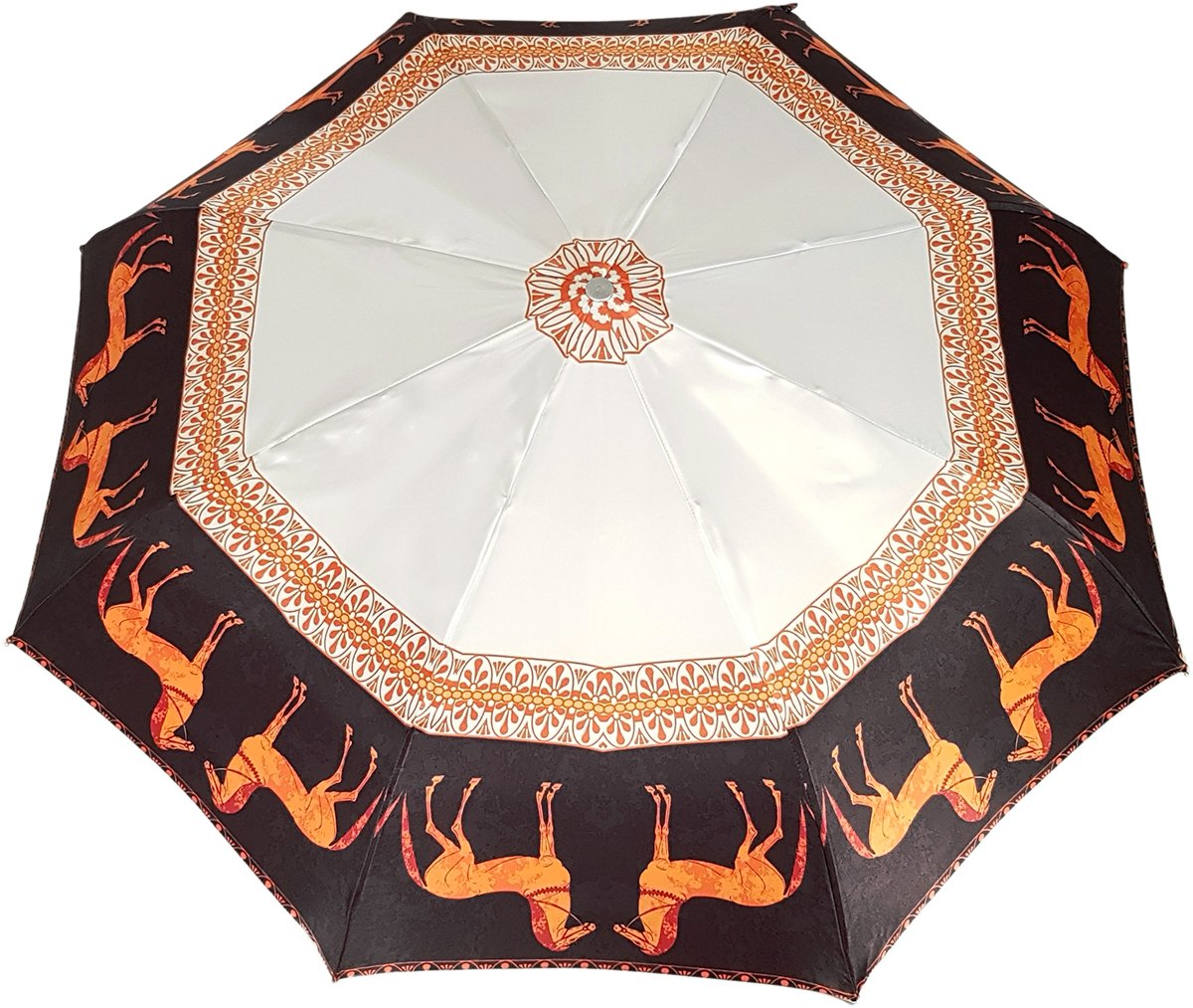 Lovely Woman's Folding Umbrella With New Horses Design - il-marchesato
