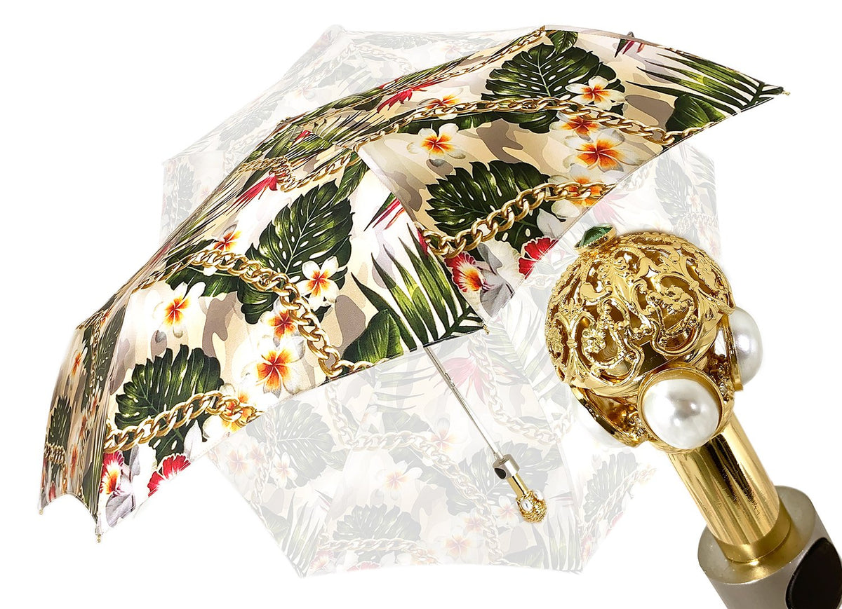 Il Marchesato Flower and Chain Umbrella - il-marchesato