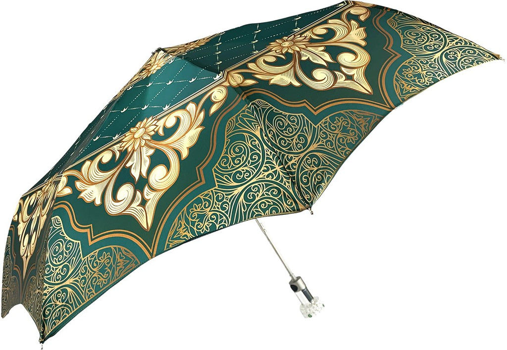GREEN WOMEN FOLDING UMBRELLA