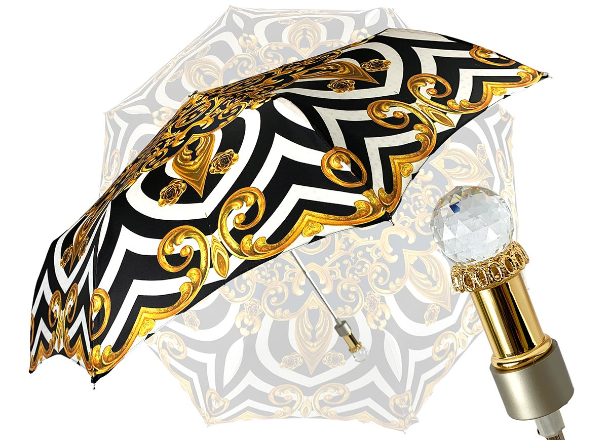 LUXURIOUS FOLDING UMBRELLA SWAROVSKI CRYSTAL
