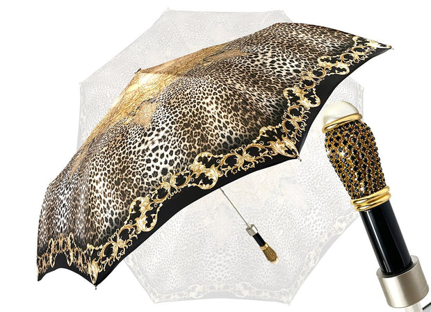 LEOPARD FOLDING UMBRELLA