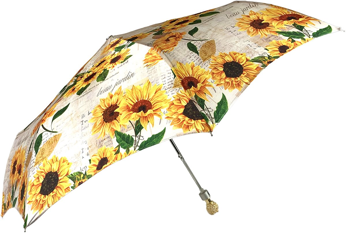 Ladylike Umbrella Exclusive Sunflowers Design - IL MARCHESATO LUXURY UMBRELLAS, CANES AND SHOEHORNS
