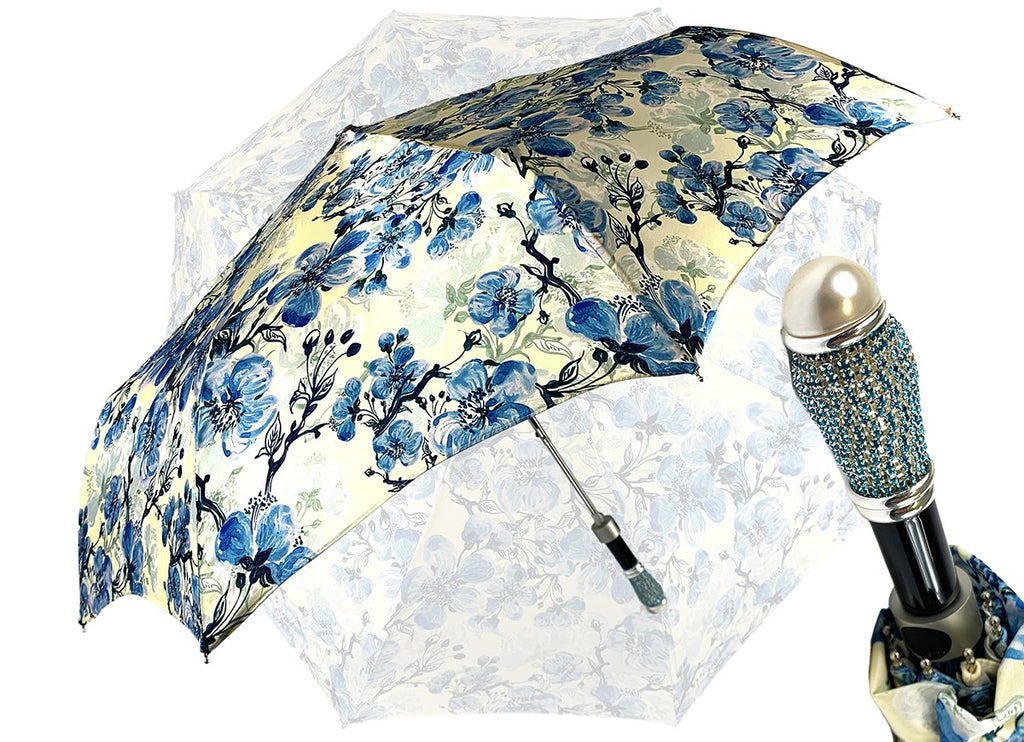 women's folding umbrella floral design