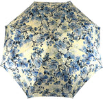 Load image into Gallery viewer, Lovely Folding Umbrella With Blue Poppies Design - IL MARCHESATO LUXURY UMBRELLAS, CANES AND SHOEHORNS