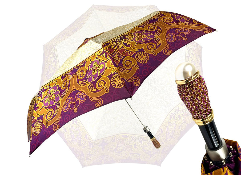 IL MARCHESATO CRYSTALS FOLDING UMBRELLA