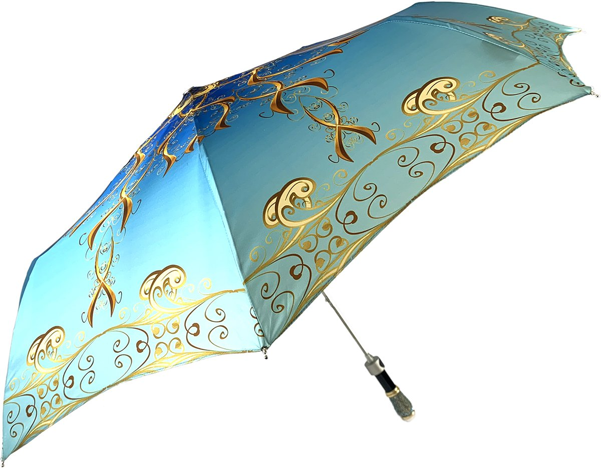 Women's Folding Umbrella - Exclusive Design - IL MARCHESATO LUXURY UMBRELLAS, CANES AND SHOEHORNS