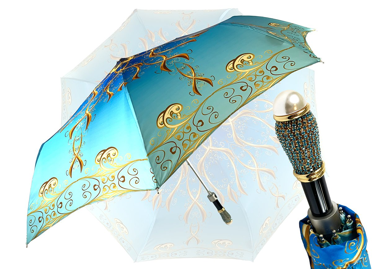 AQUAMARINE FOLDING UMBRELLA