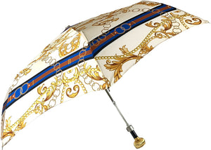 il Marchesato Chains Print Women's Folding Umbrella - IL MARCHESATO LUXURY UMBRELLAS, CANES AND SHOEHORNS