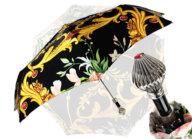 LUXURY FOLDING UMBRELLA FLORAL DESIGN