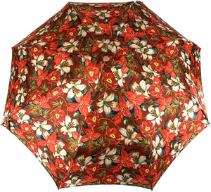 Beautiful Folding Umbrella With Flowers Pattern - IL MARCHESATO LUXURY UMBRELLAS, CANES AND SHOEHORNS