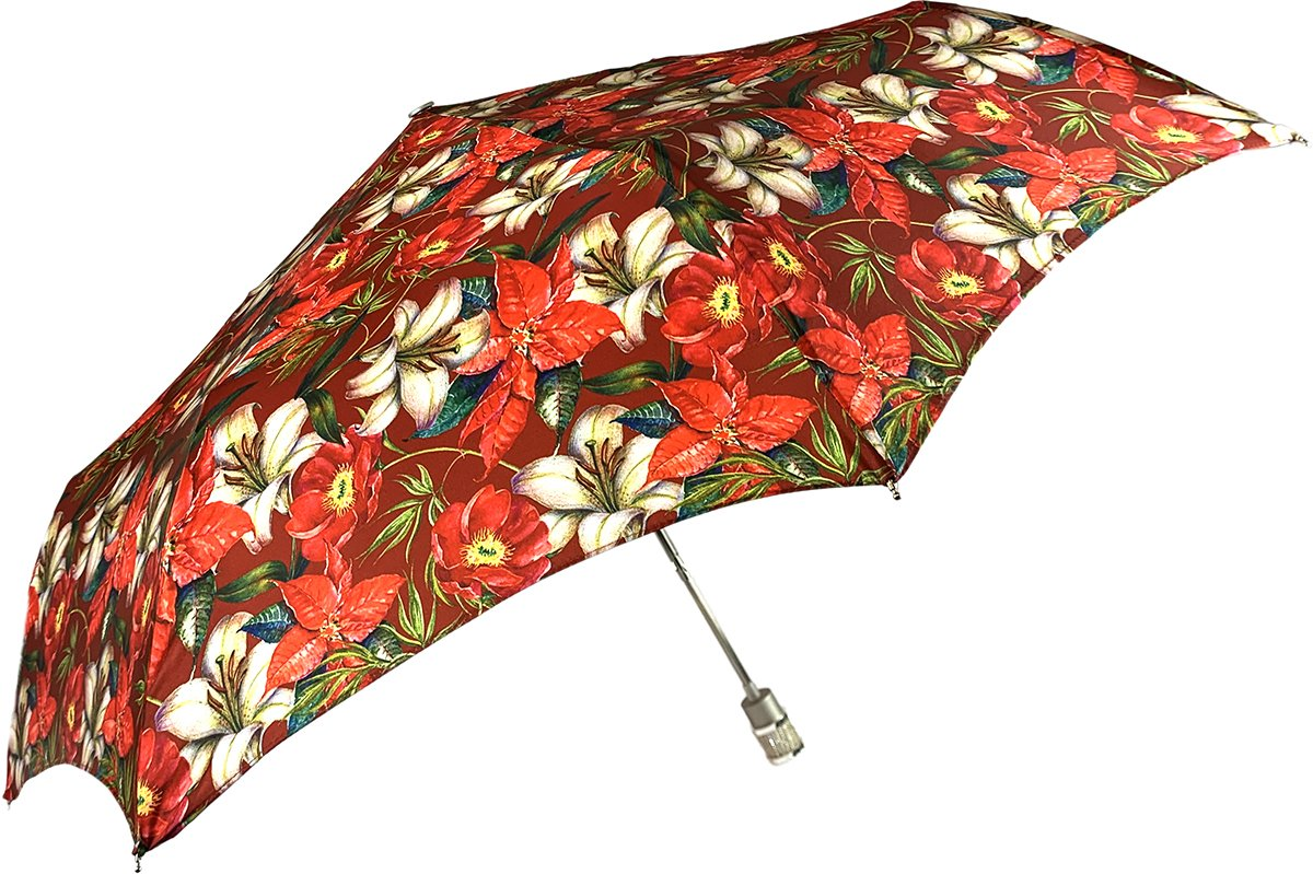 Beautiful Folding Umbrella With Flowers Pattern