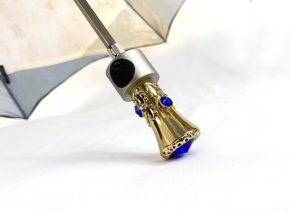 Beautiful Folding Umbrella - Abstract Design - IL MARCHESATO LUXURY UMBRELLAS, CANES AND SHOEHORNS