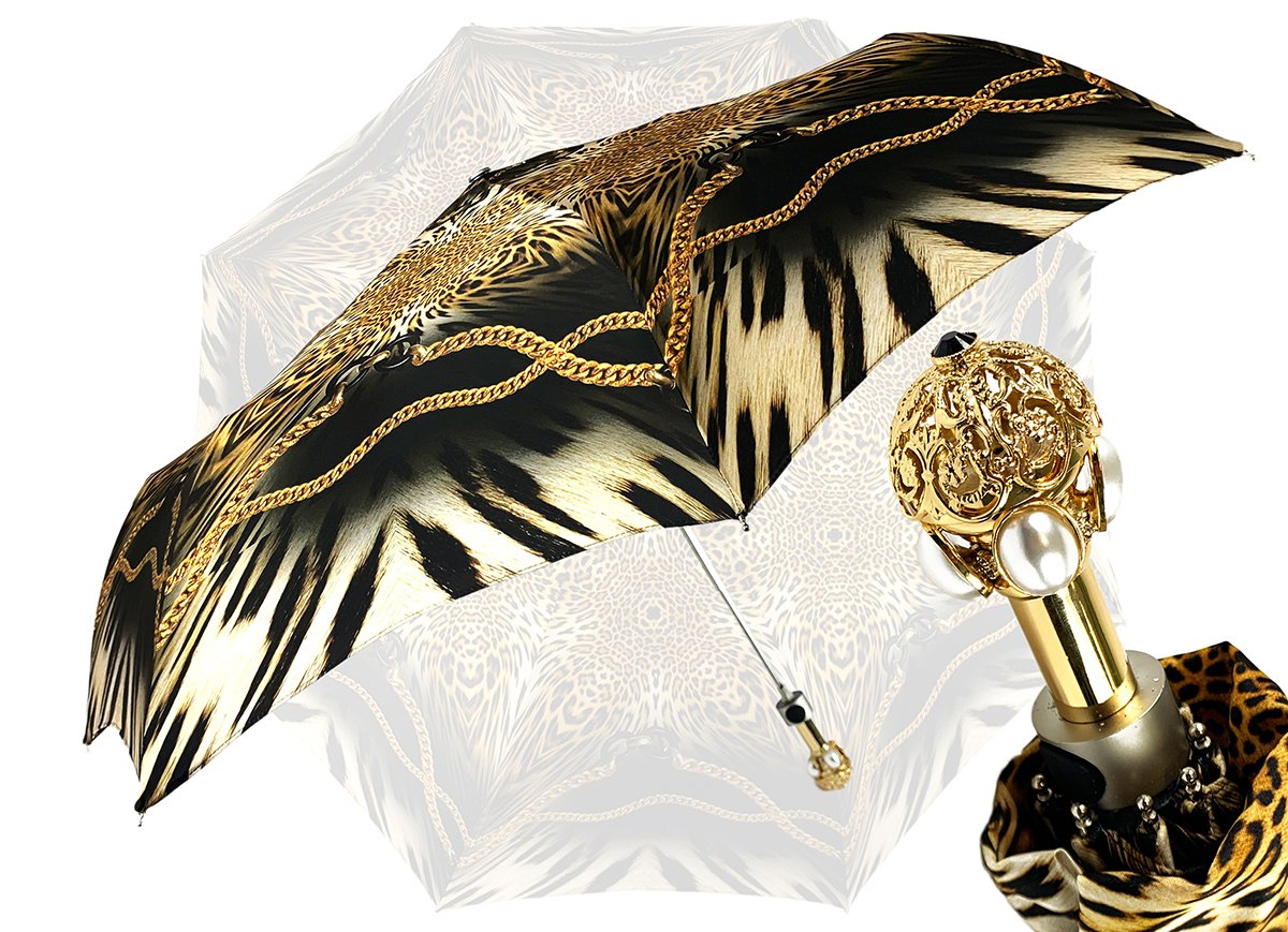 ANIMALIER CHAINS FOLDING UMBRELLA
