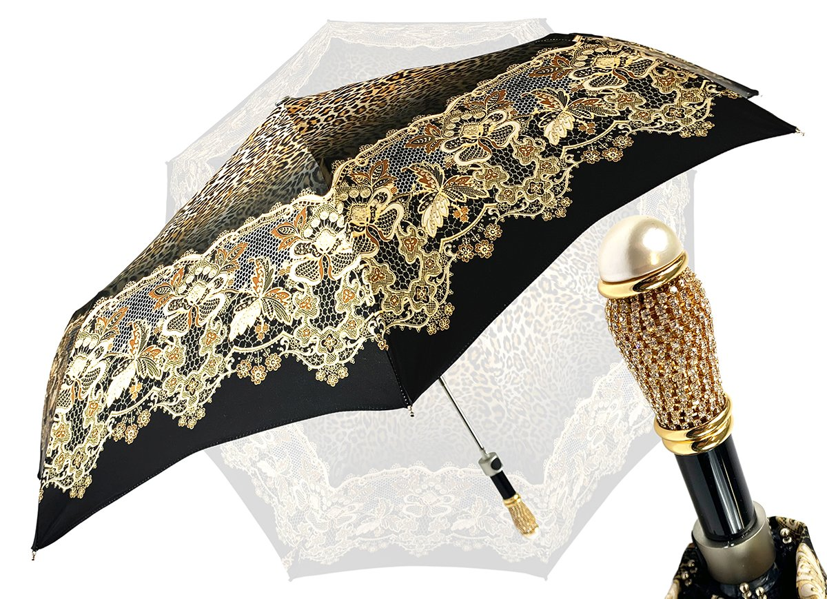 animalier print folding umbrella