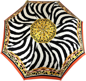 New Fantastic Zebra Pattern With Chains - IL MARCHESATO LUXURY UMBRELLAS, CANES AND SHOEHORNS