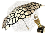 Load image into Gallery viewer, marchesato black and cream folding umbrella