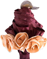Load image into Gallery viewer, Amazing Frilly Burgundy Folding Umbrella Parasol - il-marchesato