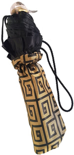 Load image into Gallery viewer, Automatic Folding Umbrella with Black Ruffle - il-marchesato