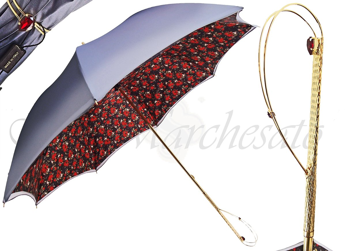 Fashionable Flowered Umbrella, Double Cloth - il-marchesato