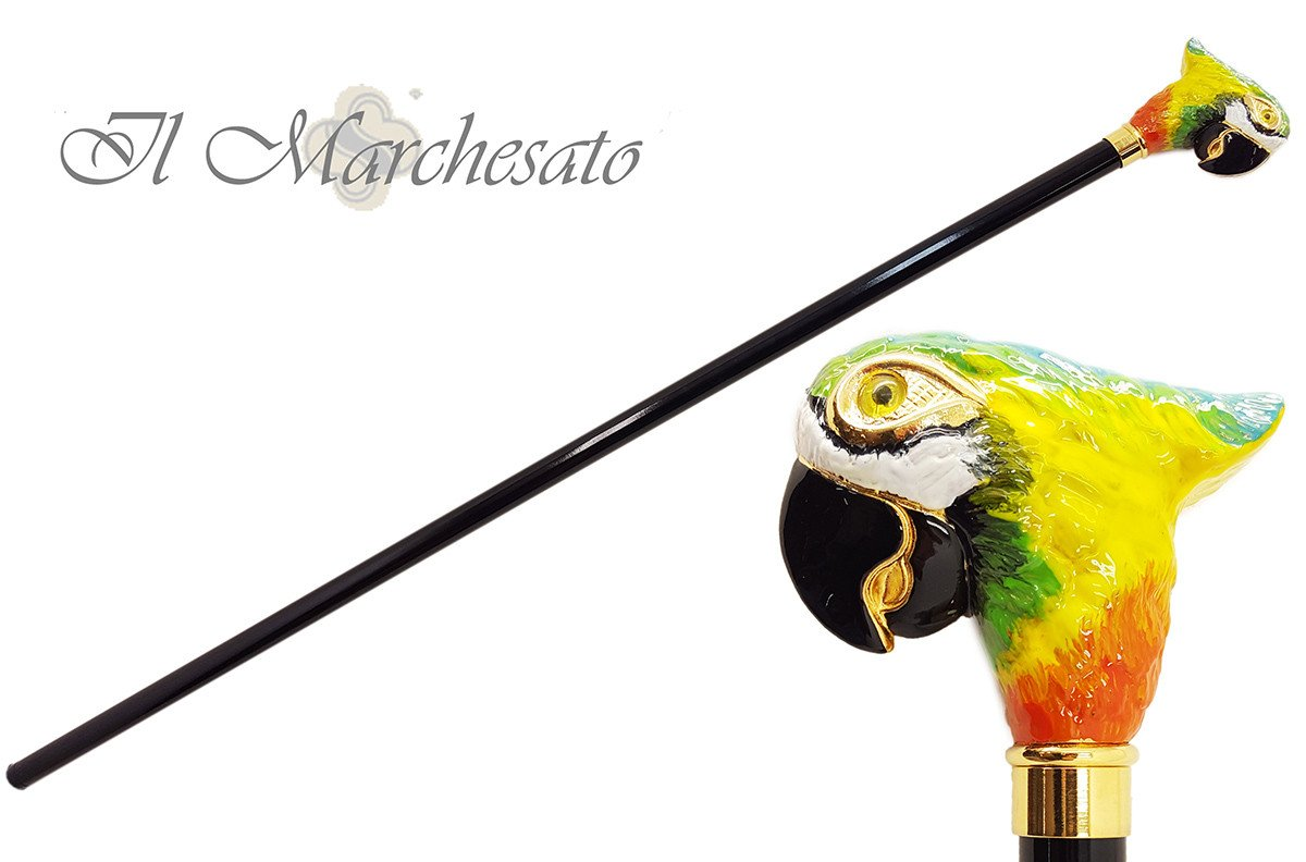 A Walking Stick With Parrot Handle - il-marchesato