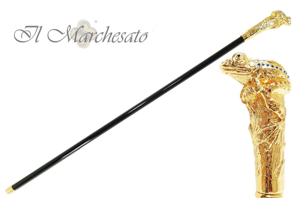 il Marchesato Lux Frog Cane Encrusted with Hundreds Cristals - il-marchesato