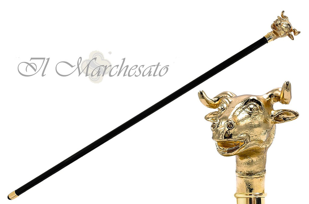 Exclusive 24K Bull cane - il-marchesato