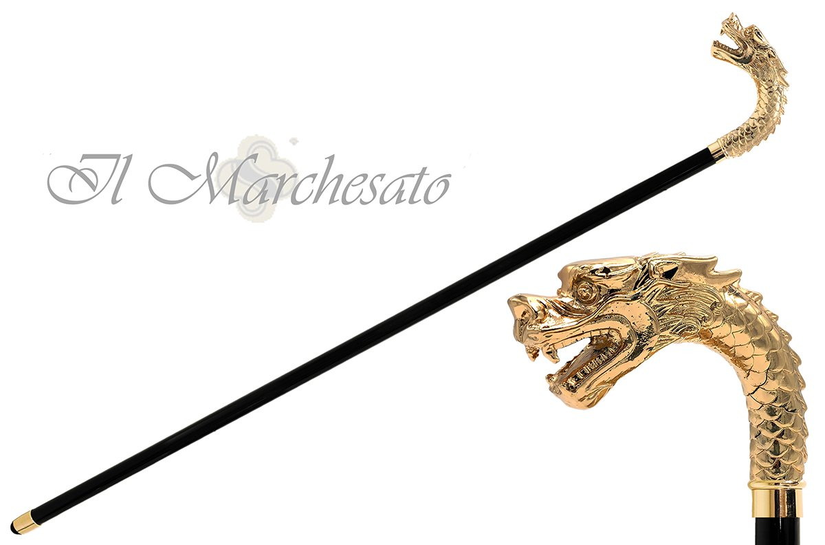 il Marchesato Walking Cane - Golden Dragon - il-marchesato