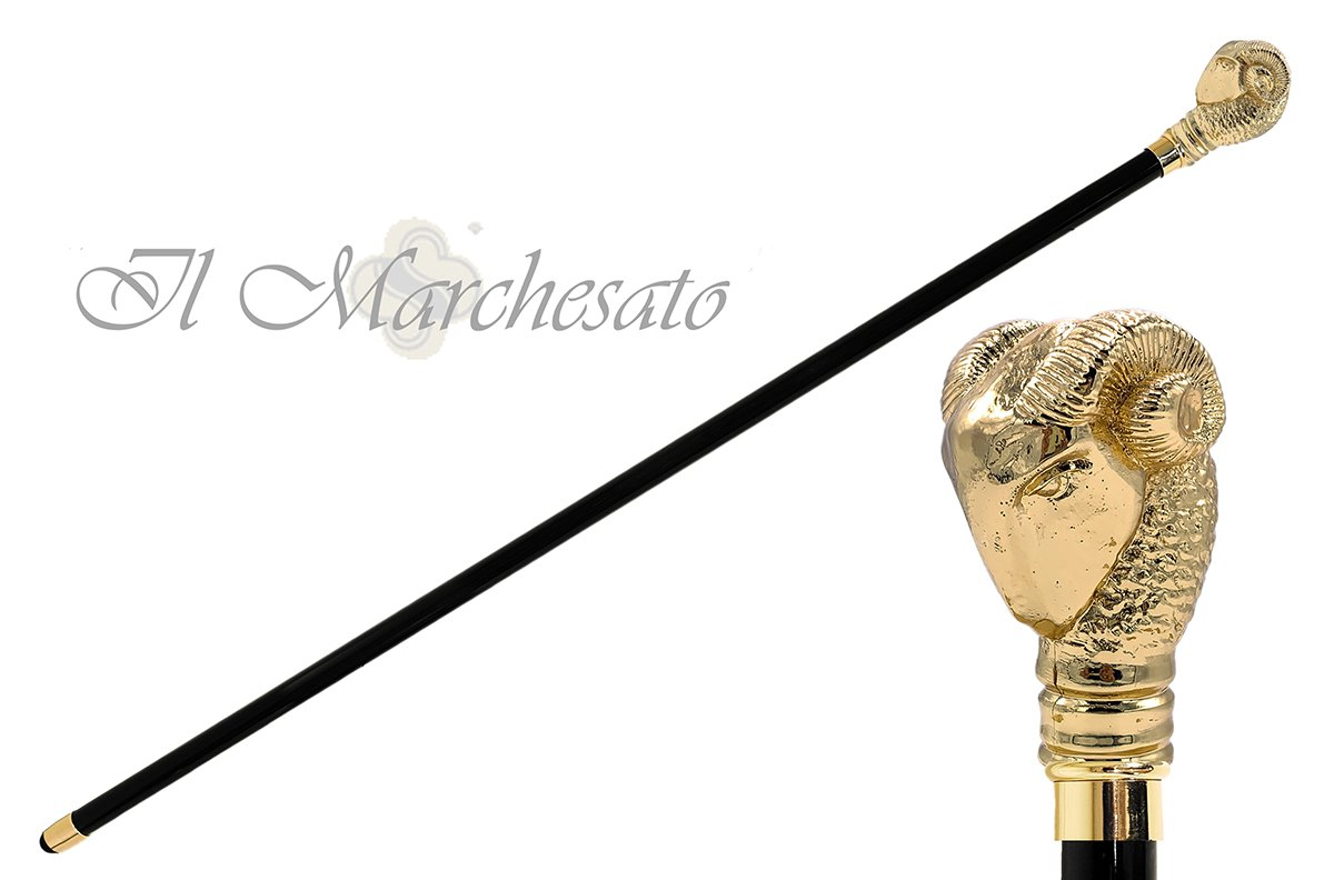 Fantastic golden Aries cane - il-marchesato