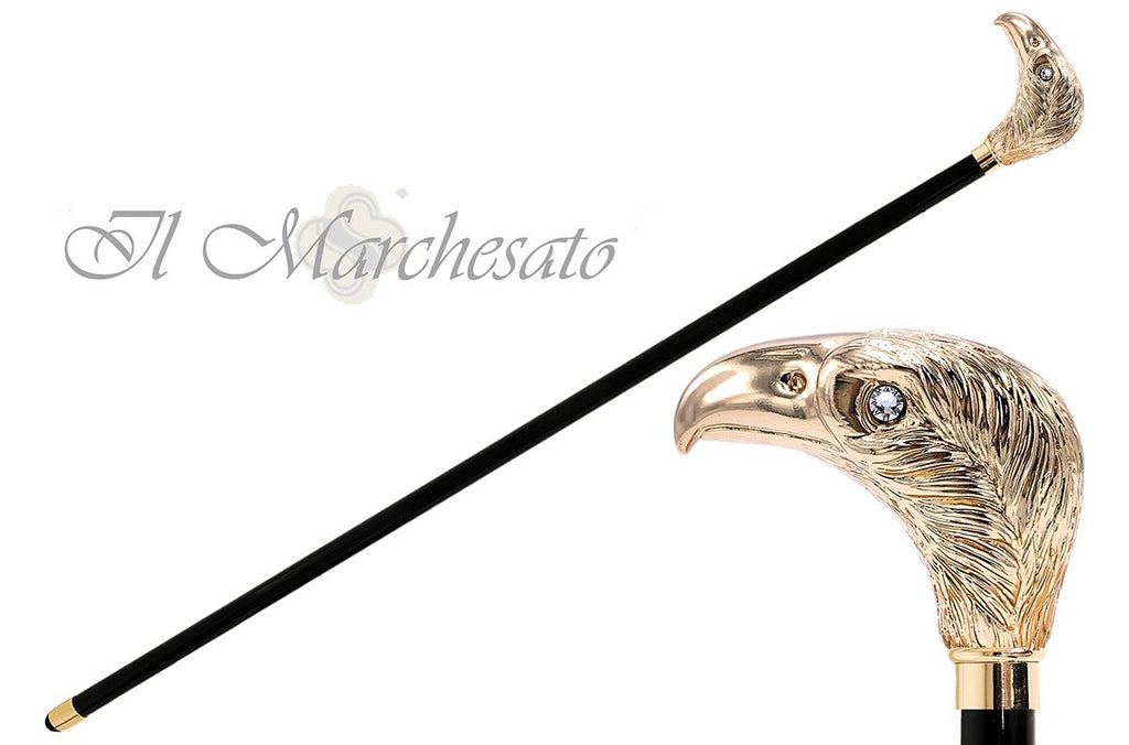 Golden eagle with Swarovski crystals - il-marchesato
