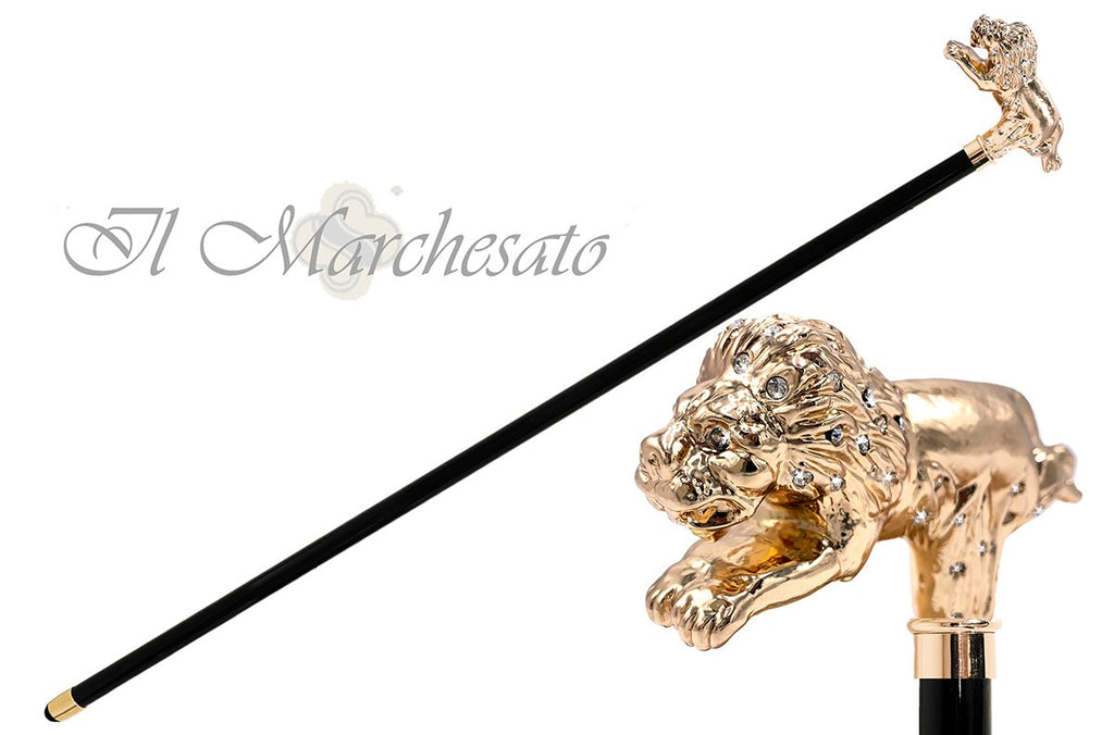 Limited running Lion with crystals - il-marchesato