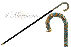 LUXURY AQUAMARINE WALKING CANE