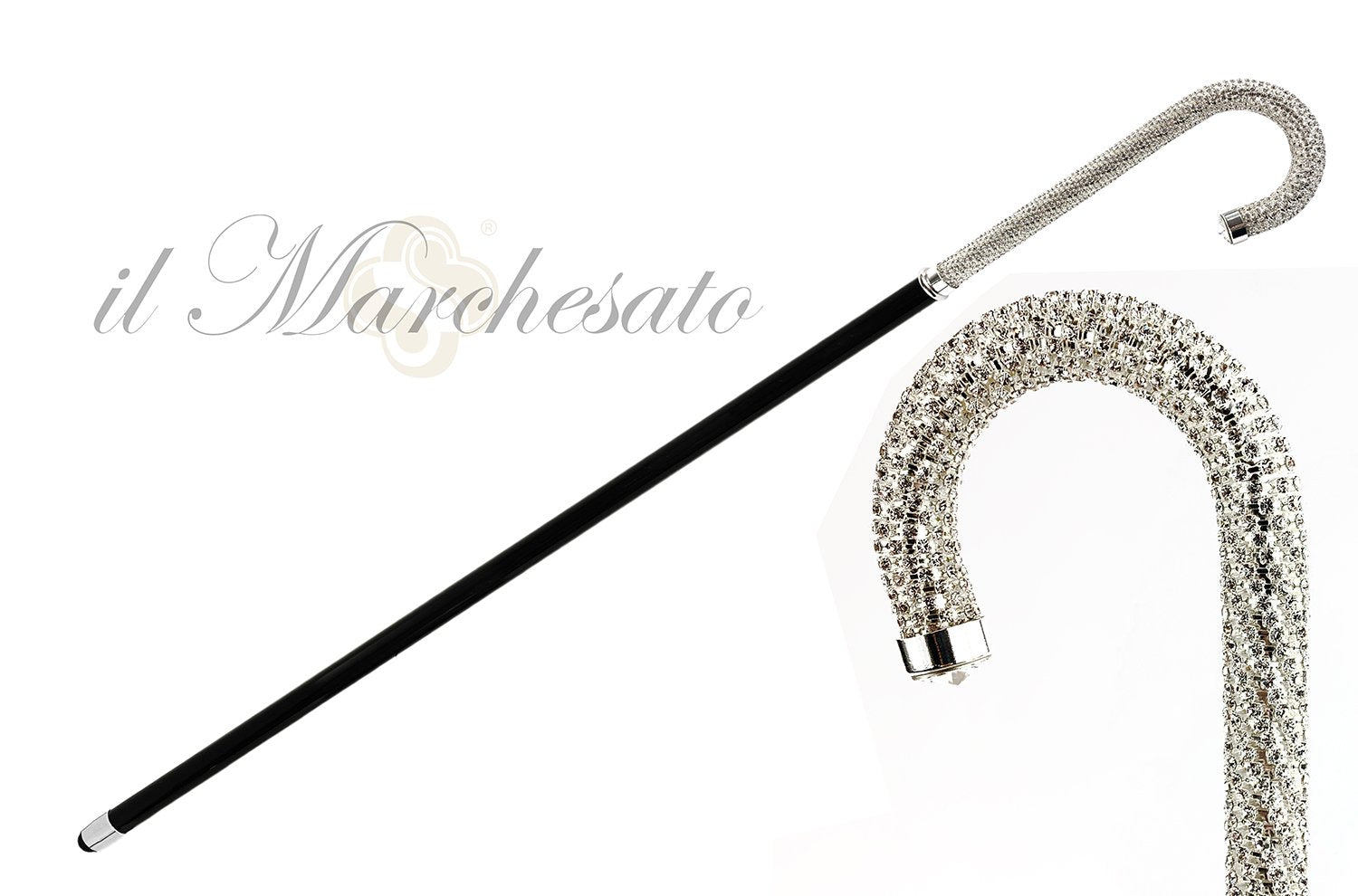 LUXURY CRYSTALS EVENING CANE