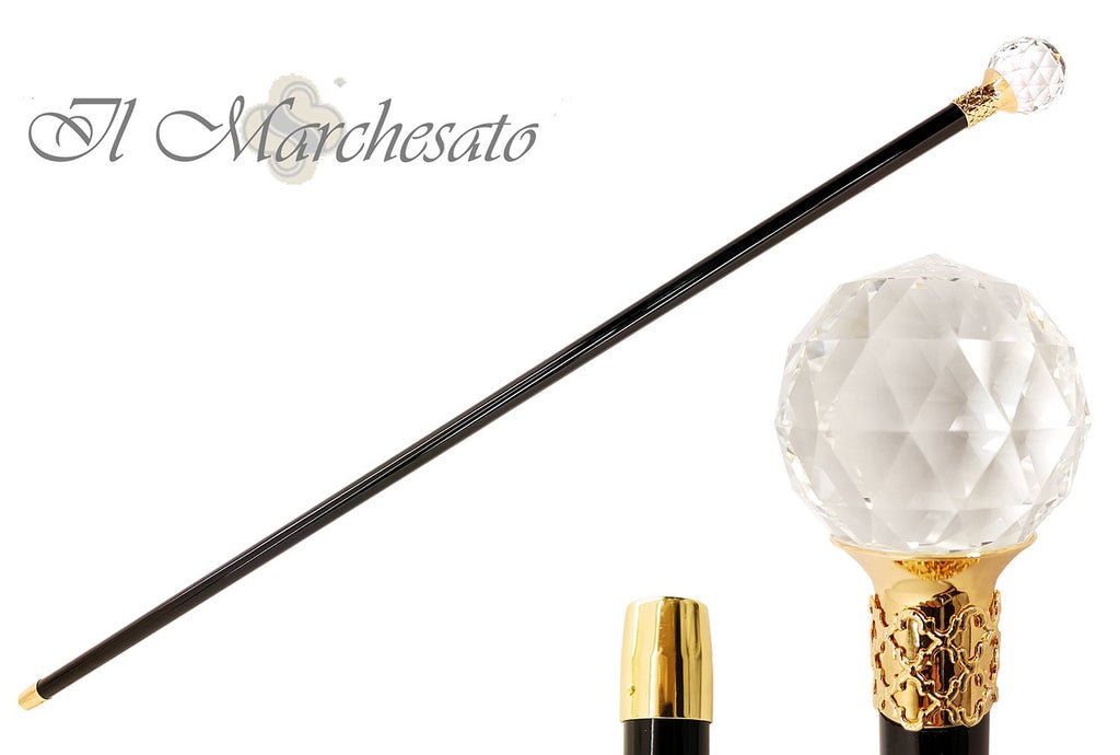 Majesty Swarovski Elements Crystal Ball Formal knobstick Cane - il-marchesato