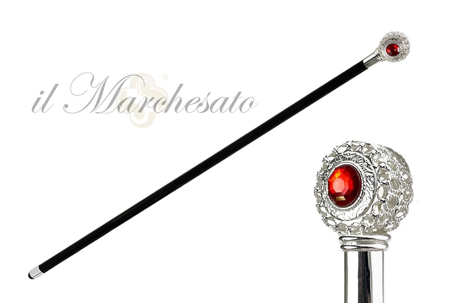 LUXURIOUS WALKING STICK RUBIN STRASS