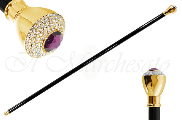 Luxurious Walkingsticks - Swarovski Crystal Encrusted Knob - il-marchesato