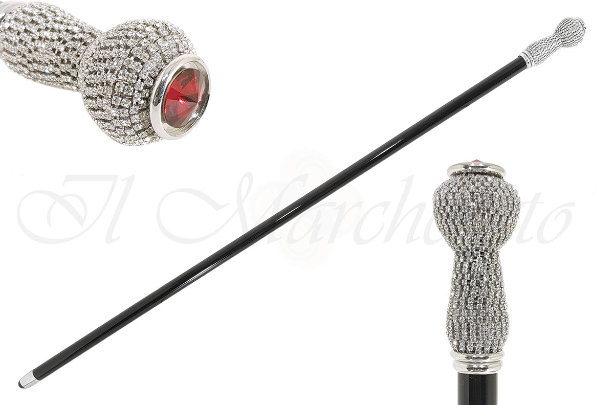 Jewel Cane with Swarovski crystal - il-marchesato